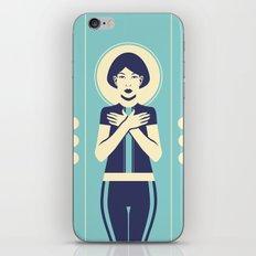 Evangeline Blue iPhone & iPod Skin