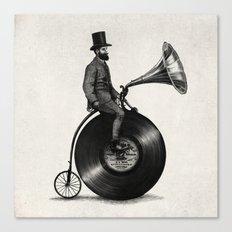 Music Man (monochrome option) Canvas Print