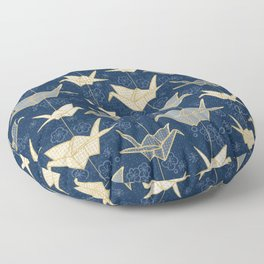 Sadako's Good Luck Cranes Floor Pillow