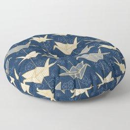 Sadako's Good Luck Cranes Floor Pillow