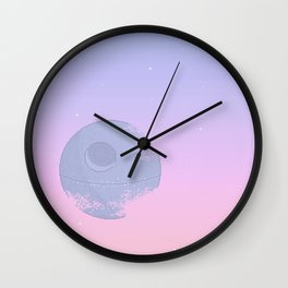 Pastel Death Star Wall Clock