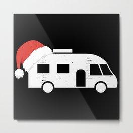 Motorhome Santa Hat   Christmas Gift Metal Print