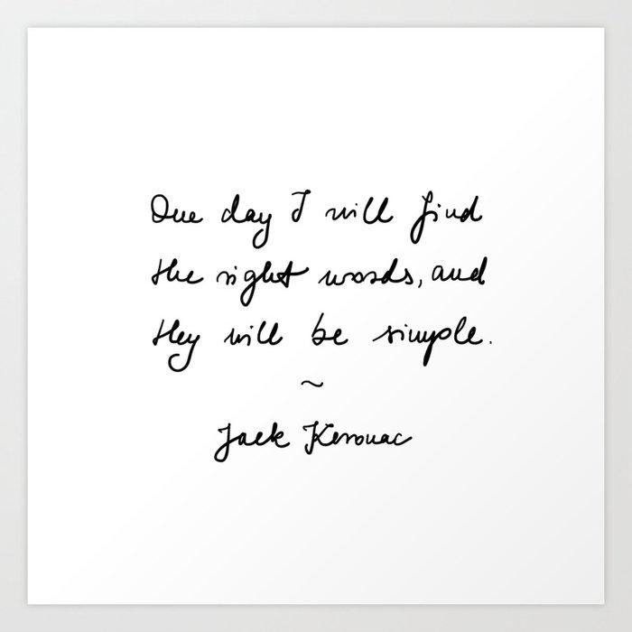 jack kerouac - the dharma bums - quote Art Print by vikkart