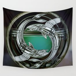 """""""Astrological Mechanism - Pisces"""" Wall Tapestry"""