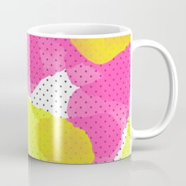 Sarah's Flowers - Abstract Watercolor on Polka Dots Coffee Mug
