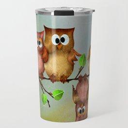 Owl crashed Travel Mug