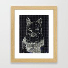 ofelia la gata Framed Art Print