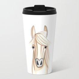 Horse Drawing, Pony, Farm Animal, Nursery Decor Travel Mug