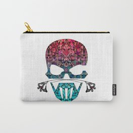 SKULL FLORAL ORNAMENTS I Carry-All Pouch