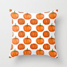 Halloween Orange pumpkin Pattern Throw Pillow