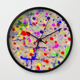 blooding eyes colorful spot lasoffittadiste Wall Clock