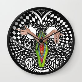 High on Pussy Wall Clock