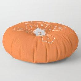 Orange Unrolled D12 Floor Pillow