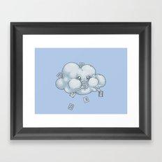 Cloud Storage Framed Art Print
