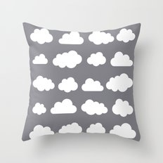 Grey clouds on grey winter skies Throw Pillow