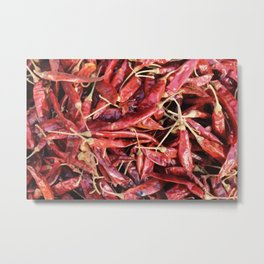 Chili Chipotle red hot Metal Print