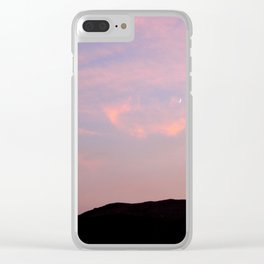 Moonrise over Death Valley Clear iPhone Case