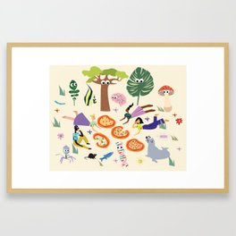 Pizza & Pals Framed Art Print