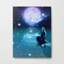 Under The Magic Moon by GEN Z Metal Print