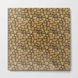 Abstract pattern . Stones . Metal Print