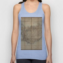 Map Of Iceland 1849 Unisex Tank Top