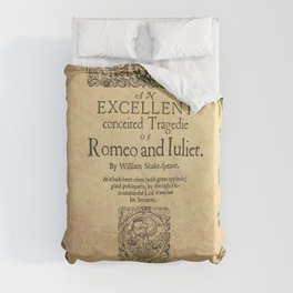 Shakespeare, Romeo and Juliet 1597 Duvet Cover