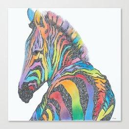 Rainbow Zebra Canvas Print