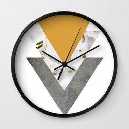 Blossoms Mango Mojito Arrows Collage Wall Clock