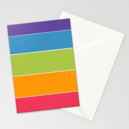 Colourful Stripes Stationery Cards