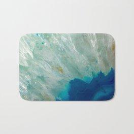 Abstract Blue Quartz Bath Mat