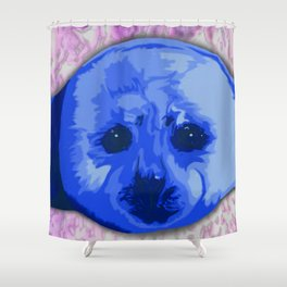 Harp Seal Shower Curtain