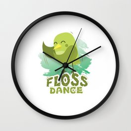 Floss Dance Move Bird Wall Clock