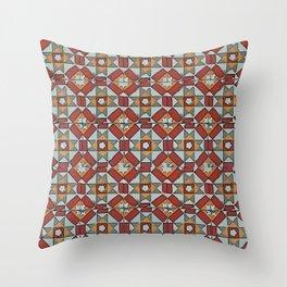 Floor Series: Peranakan Tiles 23 Throw Pillow