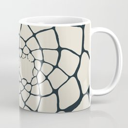 Organic Shapes in a Spiral, Cream on Charcoal Gray Coffee Mug