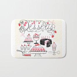 Midcentury Recipes Make Sweet And Lovely Vintage Desserts Bath Mat