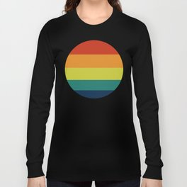 Vintage Bicycle Colorful Geometric Pattern Long Sleeve T-shirt