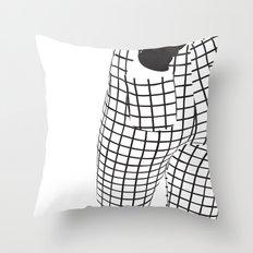 Minimalistic B-Side Throw Pillow