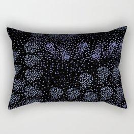 Blue circle on black Rectangular Pillow