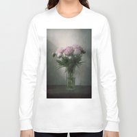 peonies Long Sleeve T-shirts featuring Peonies by Pauline Fowler ( Polly470 )