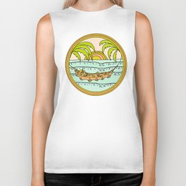 peaceful hammock life Biker Tank