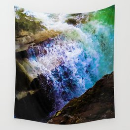 Watercolor Waterfall Wall Tapestry