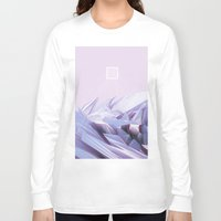 data Long Sleeve T-shirts featuring Data Crystals by memoirnova