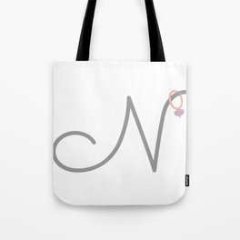 N Initial with Stitch Marker Tote Bag