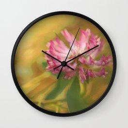 Clover Flower in Romantic Mood  Wall Clock