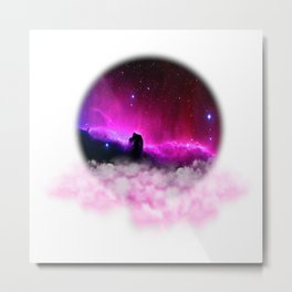 Cloudy Romantic Night Metal Print