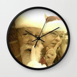 Deaf Santa and Mrs Santa Wall Clock