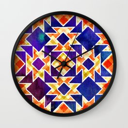Multicolor Pattern, Including: Cerulein, Electric Violet, Mountain Meadow, Persian Blue + See Below Wall Clock