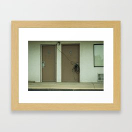Stealing Cable Framed Art Print