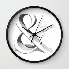 "Single character ""And"" in 3D Wall Clock"