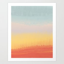 Ceramic Sunset // Multi Color Speckled Drip Summer Beach California Surf Vibes Wall Hanging Design Art Print